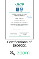 Certifications of ISO 9001